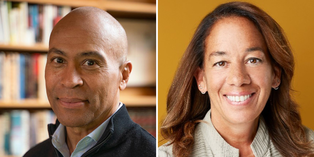 Deval Patrick and Gaby Sulzberger