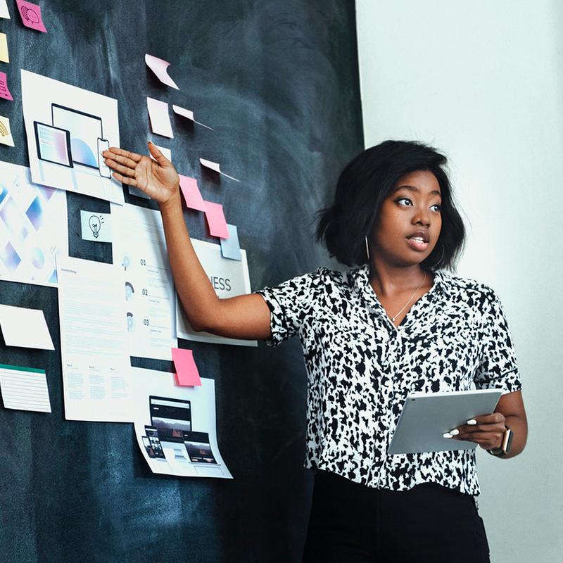 Woman presenting ideas